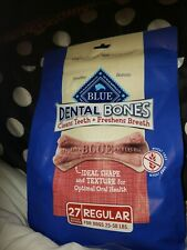 Blue Buffalo (for25-50 lb) Dog Treats 27 Bones Dental Breath Healthy USA $22.97