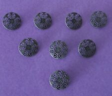 5   Black Silver  Colour    Metal   Shank    Buttons     25  mm        Wt 10 g