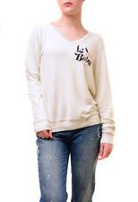 Wildfox Damen LA Baby Vintage Varsity NWT Sweatshirt Elfenbein Größe S UVP 89 €