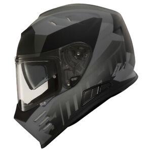 SIMPSON VENOM ARMY MATT GREY BLACK FULL FACE MOTORCYCLE HELMET ROAD LEGAL