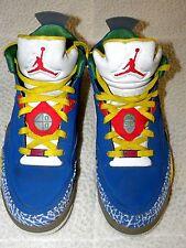 EUC Mens Nike Air Jordan Son Of Mars Low DTRT Royal Blue White Yellow Size 10.5