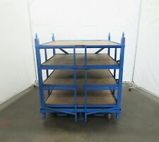 Industrial 48 X 48 Roll Out Shelving On Wheels Idz 010