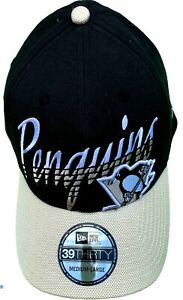 Pittsburgh Penguins 39THIRTY Sz: M/L Baseball Hat Cap Flex Fit by New Ear
