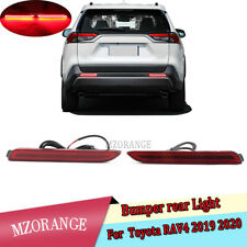 Pair LED Brake Stop Light Rear Bumper Reflector Driving Fog Lamp for Toyota RAV4