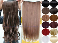Long 3/4 Full Head One piece Clip in Hair Extension Popular with UK human dress