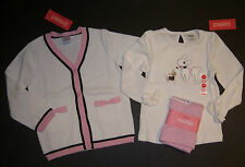NWT Gymboree Tres Fabulous 4 4T Poodle Chihuahua Dog Tee Cardigan Pink Leggings