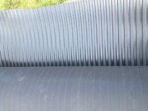 BROAD RIBBED RUBBER MATTING 1.2m WIDE X 3MM