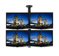 "Four x 26"" LCD & LED TV / Monitor Single Pole Ceiling Mount - Professional Grade"