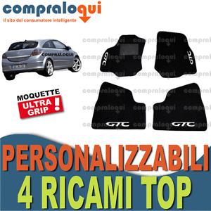 TAPPETI PER OPEL ASTRA GTC H (04-10) MOQUETTE FONDO in GOMMA + 4 RICAMI TOP
