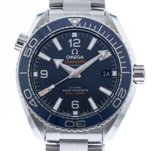 Omega Planet Ocean Blue  Co-Axial Ceramic 39.5mm bracelet 215.30.40.21.03.001