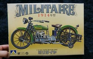 1914 MILITAIRE CLASSIC MOTORCYCLE  1/16 AOSHIMA MODELKIT