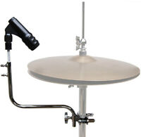 Mic Holder Drum Hi Hat Cymbal Stand Mount Rubber Shockmount Microphone Clip MHHH