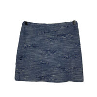 Marcs Womens Skirt Size 8 Blue Chambray Distressed Mini Skirt Good Condition