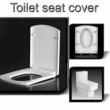 Toilet Seat Square Soft Close Heavy Duty White Quick Release Top Fixing Hinges