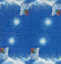 Lot de 3 Mouchoirs en papier Ours Polaire Decoupage Collage Decopatch