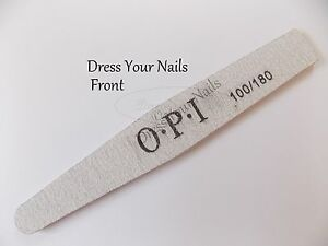 """OPI Nail File"" Curved Shaped Grey Gel Polish Art DIY 100/180 Tools Accessories"