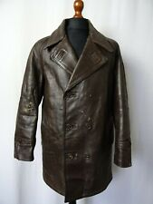 Men's Vtg 1940'S Horsehide Leather German Kriegsmarine U-Boat Jacket 44R (L)