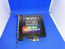 MSI SOUND BLASTER X-FI EXTREME AUDIO SOUND KARTE PCI-EXPRESS  # GK4869