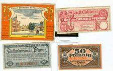 Notgeld:Calcar,Coblenz,Cotbus,Crefeld