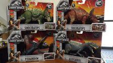 Jurassic World Set Roarivores Allosaurus Pteranodon Triceratops Sinoceratops New