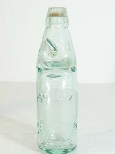 Ancienne bouteille de Limonade a bille verre SOULIE a CONFOLENS en Charente