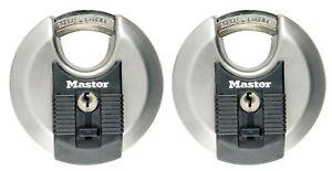 Aluminium 40mm gleichschließend 2 Stück 9140EURT Master Lock Schlösser aus mass