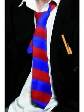 School Tie Red and Blue Adult Unisex Smiffys Fancy Dress Costume Accessory