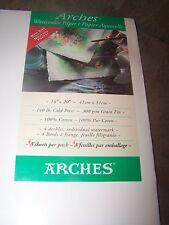 """NIP Arches 140lb Cold Press 4 sheets 16""""x20"""" Deckles 100% Cotton Watercolor Pape"""