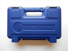 S&W Smith & Wesson New Style Medium Blue Plastic Pistol Case Box, NEW