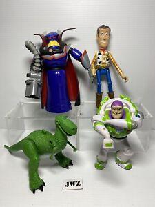 Toy story figures bundle - 1996 t rex, zurg, woody & buzz