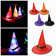 Halloween Outdoor Hanging Lighted Glowing Witch Hat Light String Party Decor Hat