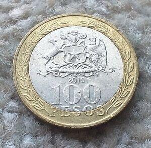 100 Pesos 2010 Chile Bi-metallic Coin   COINCORNER1
