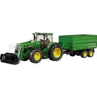 Bruder John Deere 7930 mit Frontlader u. Anhänger 1:16 Spielzeugtraktor Traktor