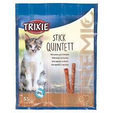 Trixie PREMIO Stick Quintett - 5 x Cat/Kitten Treat Chew Sticks 5g - Lamb/Turkey