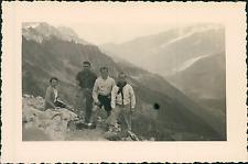 France, au Brévent, Vallée de Chamonix  Vintage silver print Tirage argentiq