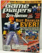 Game Players Magazine Nintendo Sega March 1995 Virtua Fighter + Poster