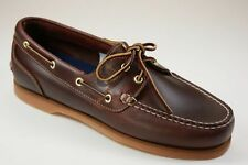 Timberland CLASSIC AMHERST 2-EYE BOAT SHOES Premium full-grain leather US 8M