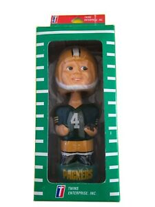 Green Bay Packers Bobbing Head Doll in Box  #4 Farve.. 1990's New in Box (GB1)