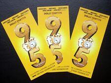 DOLLY PARTON PRESENTS 9 TO 5 THE MUSICAL ORIGINAL THEATRE FLYER HANDBILL X3