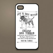English Bull Terrier dog phone case cover Apple iPhone Samsung ~ Personalised