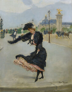 Beraud Jean Elegant To The Grand Palais Sur Le Pont Alexandre III Print  #5239