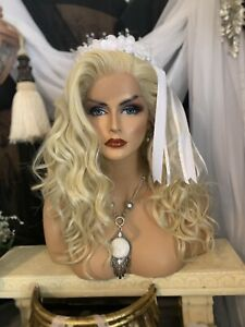"""HOLLYWOOD GLAMOUR! """"613 Blonde, Whole Lace, Human Hair Blend, Wig!"""