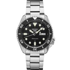 全新現貨SEIKO精工 5 Sports 自動 黑色錶盤不銹鋼 Analogue 男士手錶SRPD55K1 HK*1