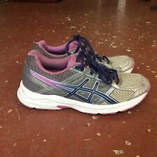 ASICS Gel Contend 4 Women athletic Shoes Grey Purple size 6 Tennis Running