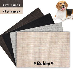 Waterproof Food Mat For Dog Cat with Personalized Pet Name Bowl Drinking Mat