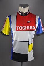 Assos Toshiba vintage Trikot Gr. L 52cm Fahrrad bike maglia cycling jersey L2
