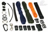 ADAPT AND SURVIVE Custom Paracord & Webbing Kit 550 Cord Needle Buckles Bracelet