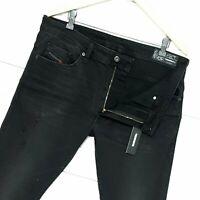 ⭐ Mens Diesel Thommer-C stretch Slim-skinny black denim jeans RM019 size W34 L32