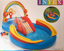 Intex Playcenter Babypool Planschbecken Kinderpool Pool mit Rutsche Rainbow, (N)