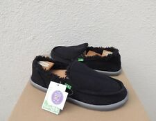 SANUK BLACK DONNA HEMP CHILL SIDEWALK SURFER SHOES, WOMEN US 6/ EUR 37 ~ NEW
